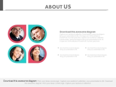 Team Of Four Business Persons Powerpoint Slides