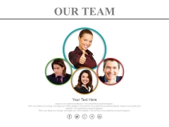 Team Of Four Expert People Powerpoint Slides