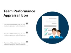 Team Performance Appraisal Icon Ppt PowerPoint Presentation Model Templates PDF
