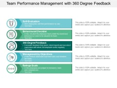 team performance management with 360 degree feedback ppt powerpoint presentation infographic template deck