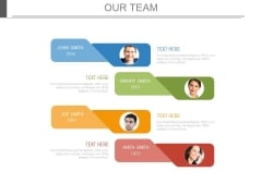 Team Pictures With Tags For Profile Information Powerpoint Slides