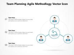 Team Planning Agile Methodology Vector Icon Ppt PowerPoint Presentation Icon Diagrams PDF