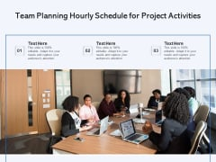 Team Planning Hourly Schedule For Project Activities Ppt PowerPoint Presentation Gallery Microsoft PDF