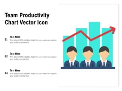 Team Productivity Chart Vector Icon Ppt PowerPoint Presentation Portfolio Themes