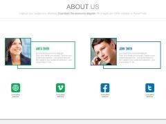 Team Profile For Social Media Communication Powerpoint Slides