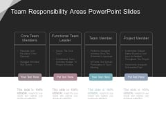 Team Responsibility Areas Powerpoint Slides