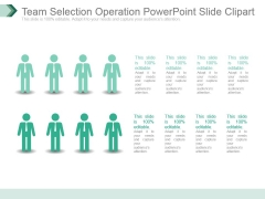 Team Selection Operation Powerpoint Slide Clipart