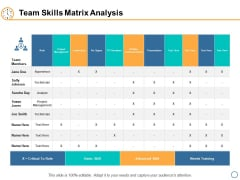 Team Skills Matrix Analysis Ppt PowerPoint Presentation Model Graphics Tutorials