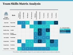 Team Skills Matrix Analysis Ppt PowerPoint Presentation Professional Pictures