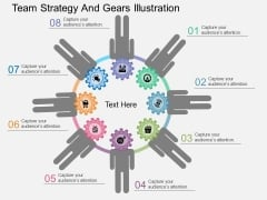 Team Strategy And Gears Illustration Powerpoint Template