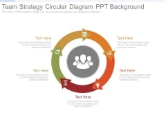 Team Strategy Circular Diagram Ppt Background