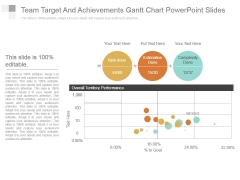 Team Target And Achievements Gantt Chart Powerpoint Slides