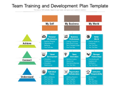 Team Training And Development Plan Template Ppt PowerPoint Presentation Pictures Sample PDF