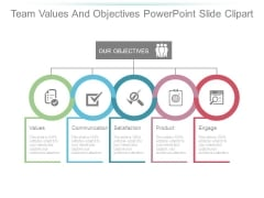 Team Values And Objectives Powerpoint Slide Clipart
