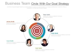Team Working On Goal Strategy Plan Powerpoint Slides
