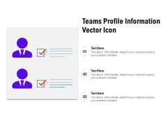Teams Profile Information Vector Icon Ppt PowerPoint Presentation Pictures Design Templates