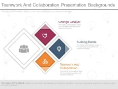 Teamwork And Collaboration Presentation Backgrounds