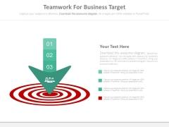 Teamwork For Business Target Powerpoint Slides