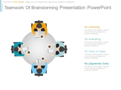 Teamwork Of Brainstorming Presentation Powerpoint