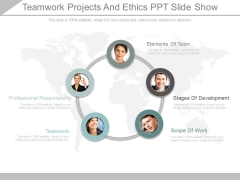 Teamwork Projects And Ethics Ppt Slide Show
