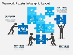 Teamwork Puzzles Infographic Layout Powerpoint Templates