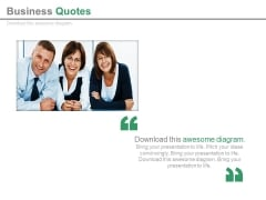 Teamwork Quote For Business Growth Powerpoint Slides