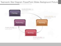 Teamwork Star Diagram Powerpoint Slides Background Picture