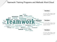 Teamwork Training Programs And Methods Word Cloud Ppt Powerpoint Presentation Infographics Design Templates