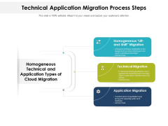 Technical Application Migration Process Steps Ppt PowerPoint Presentation Gallery Rules PDF