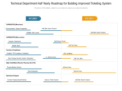 Technical Department Half Yearly Roadmap For Building Improved Ticketing System Themes