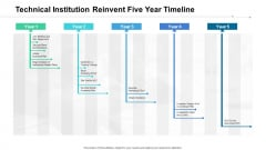 Technical Institution Reinvent Five Year Timeline Icons
