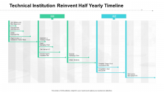 Technical Institution Reinvent Half Yearly Timeline Information