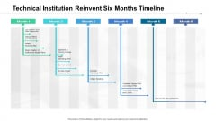 Technical Institution Reinvent Six Months Timeline Template