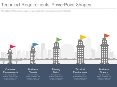 Technical Requirements Powerpoint Shapes
