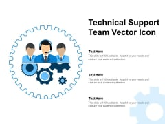 Technical Support Team Vector Icon Ppt PowerPoint Presentation Slides Topics