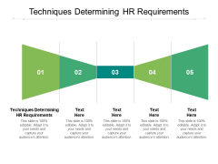 Techniques Determining HR Requirements Ppt PowerPoint Presentation Layouts Rules Cpb