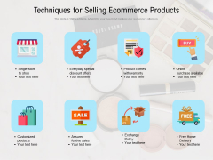 Techniques For Selling Ecommerce Products Ppt PowerPoint Presentation Summary Visual Aids PDF