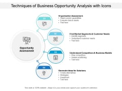 Techniques Of Business Opportunity Analysis With Icons Ppt PowerPoint Presentation Gallery Show