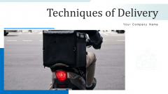 Techniques Of Delivery Sustain Service Ppt PowerPoint Presentation Complete Deck With Slides