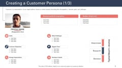 Techniques To Increase Customer Satisfaction Creating A Customer Persona Interests Template PDF