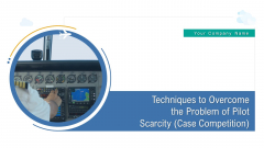 Techniques To Overcome The Problem Of Pilot Scarcity Case Competition Ppt PowerPoint Presentation Complete Deck With Slides