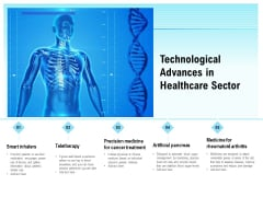 Technological Advances In Healthcare Sector Ppt PowerPoint Presentation Layout