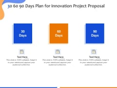 Technological Innovation Project 30 60 90 Days Plan For Innovation Project Proposal Professional PDF