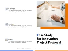 Technological Innovation Project Case Study For Innovation Project Proposal Ideas PDF