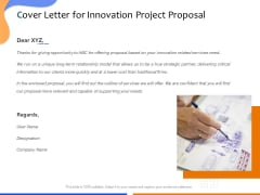 Technological Innovation Project Cover Letter For Innovation Project Proposal Template PDF