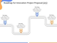 Technological Innovation Project Roadmap For Innovation Project Ppt Summary Themes PDF