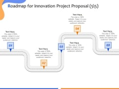 Technological Innovation Project Roadmap For Innovation Project Proposal Ppt Pictures Graphic Tips PDF