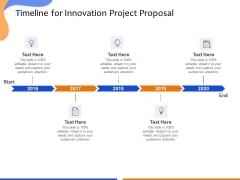 Technological Innovation Project Timeline For Innovation Project Proposal Ppt Outline Show PDF
