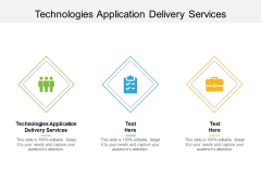 Technologies Application Delivery Services Ppt PowerPoint Presentation Show Grid Cpb Pdf