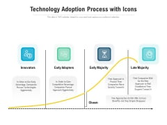 Technology Adoption Process With Icons Ppt PowerPoint Presentation File Graphics Example PDF